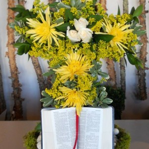 Sympathy Cross with Bible