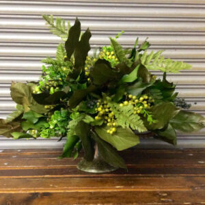 Evergreen Silk & Preserved Flower Arrangement