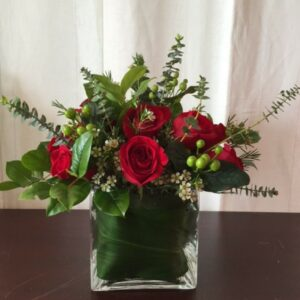 Cubed Dozen Roses by Just Priceless